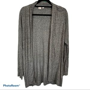 Gap open front lightweight grey cardigan L